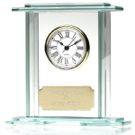 Stepped Jade Glass Clock